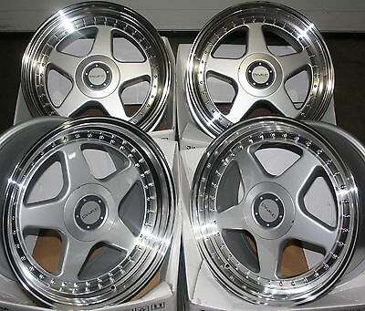 """17"""" Staggered Dr-F5 Alloy Wheels Fit 5X100 Audi Vw Crysler Seat Skoda Toyota"""
