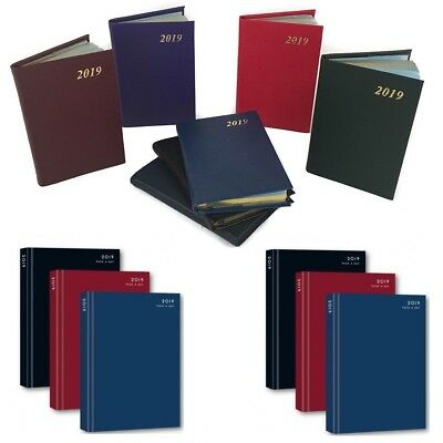 2019 A4 / A5 Diary Day to Page or Week to View Desk Diary Hard Backed Dairy UK