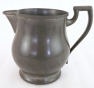 """Antique Vintage Small Solid Pewter Water Milk Pitcher Gimbles 831 7"""" Tall  (O)"""
