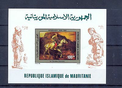 Mauritania 1980 Rembrandt Paintings block Imperforate MNH VF.