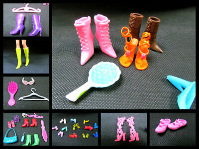 Barbie Sindy Doll Clothing Accessories 7 Piece Set Of Handbag Shoes Boots Comb