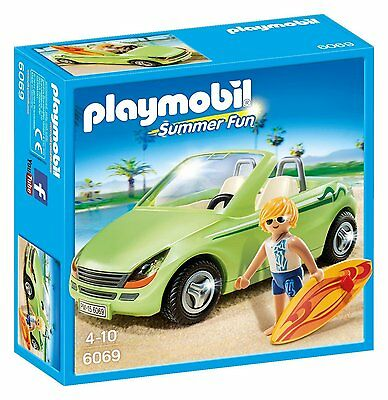 Playmobil 6069 Summer Fun Surfer Car Toy with Convertible