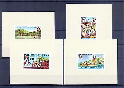CENTRAL AFRICA 1978 Capt. James Cook Imperforate mini sheets. MNH F.