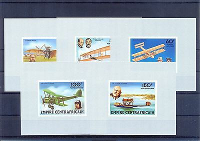 CENTRAL AFRICA 1978 History of aviation Imperforate mini sheets. MNH F.