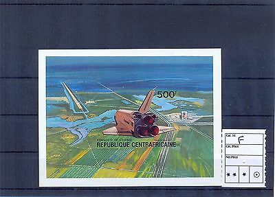 CENTRAL AFRICA 1981 Space Shuttle Landing Block Imperforate. MNH F. (L Browns)