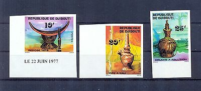 Djibouti 1977 Water Pipes issue imperforate. VF.