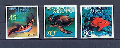 Djibouti 1977 Sea Animals issue imperforate. VF.