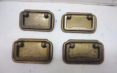 Vintage Lot of 4 Brass Draw Pulls Handles -Canada 1& 2  CB1862  Kitchen  Dining
