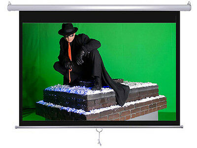 """Maxstar 84"""" 4:3 e-z pull down Manual Projector Screen Wall/Ceiling Mount"""