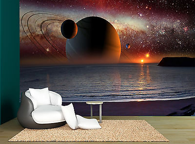 Sky Fantastic Planets Space Star Wall Mural Photo Wallpaper GIANT WALL DECOR