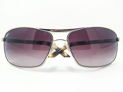 Authentic New Ray Ban Navigator Gold & Brown Sunglasses Rb3470L 001/13