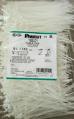 "Panduit Cable Tie, 5-5/8"", Nylon, Pan-Ty, Nat, 1000 pc Bag"