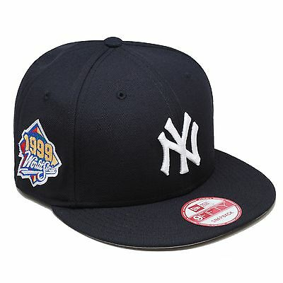 New Era New York Yankees Snapback Hat 1999 World Series Side Patch NAVY  WHITE 9516ef1b5aac