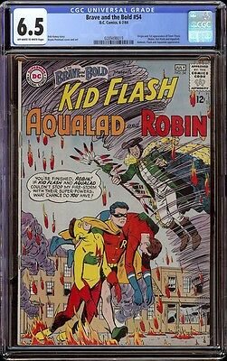 The Brave and the Bold # 54 CGC 6.5 OW/White (DC, 1964) 1st app. Teen Titans