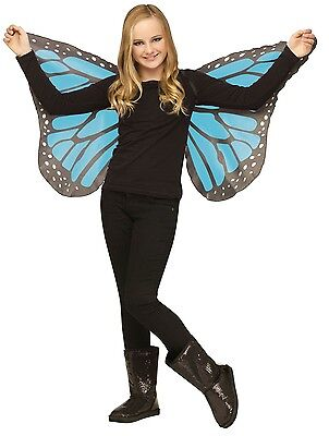 Butterfly Wings Soft Silky Fabric Child Costume Accessory, One Size, Blue Teal