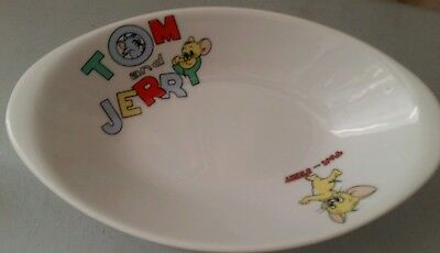 Vintage Tom and Jerry Cartoon Cat and Mouse Collectors Pasta Plate Bowl