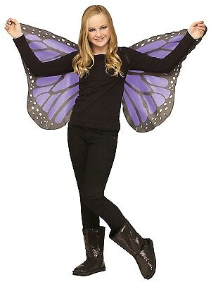 Butterfly Wings Soft Silky Fabric Child Costume Accessory, One Size, Violet