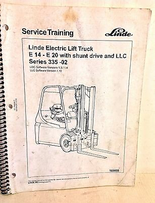Linde Electric Lift Truck E14-E20 With Shunt Drive & LLC Training Manual (4234)