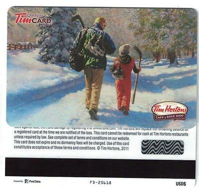 Tim Hortons USA 2011 Walking to Hockey Gift Card FD25618