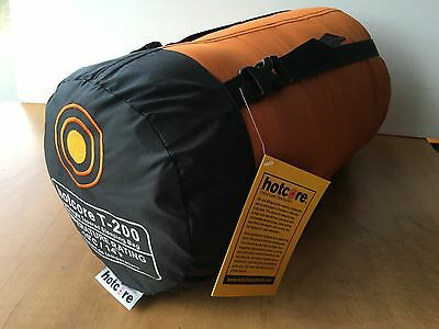 HOTCORE T200 3 season sleeping bag -10C - fits up to 6 ft - display, never used