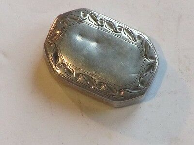 Antique English Hallmarked Silver Vinaigrette