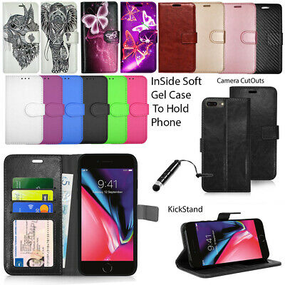 "For Apple Iphone 7 4.7"" - Wallet Leather Case Flip Cover + Screen Protector"