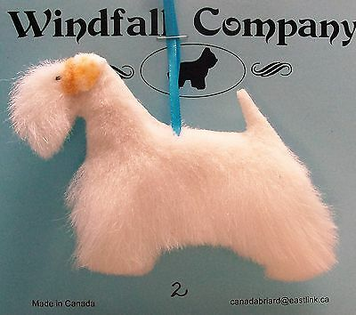 Sealyham Terrier Dog Soft Plush Canine Christmas Ornament # 2 by WC