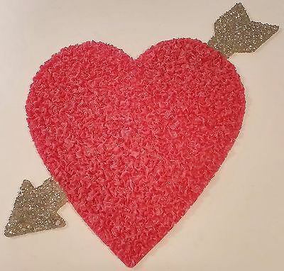 Melted Plastic Popcorn Valentine's Day Heart & Arrow Decoration