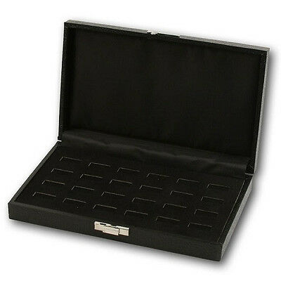 New 24 ring Wooden Jewelry Tray  Holder Box Case Display Case Storage