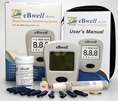 EBwell EB-W01 Blood Glucose Monitor Starter Pack Ideal Glucose Meter Glucometer
