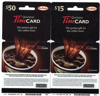 Tim Hortons 2015 GENERIC Pouring the Coffee Gift Card Hangers