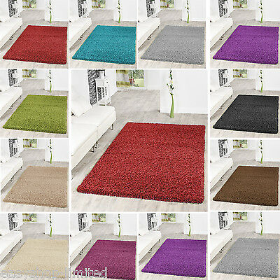 Modern Large Thick Plain Soft Shaggy Rug Non Shed Rugs Pile Modern Carpets Mats