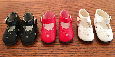 ANN ESTELLE NEW 3 PAIR 47MM HEART CUT MARY JANE STYLE SHOES  BITTY BETHANY