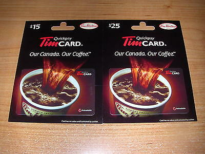 Tim Hortons 2015 Coffee Cup w/Hangers Gift Cards