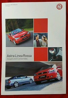Vauxhall Astra Coupe & Convertible Linea Rossa SE brochure 2003