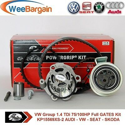 VW Group 1.4 TDi 75HP 1.9 100HP GATES KP15569XS-2 Timing Belt Kit & Water Pump