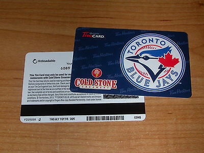 Tim Hortons 2013 Toronto Blue Jays MLB Coldstone Gift Card