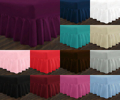 Luxury Non Iron Standard & Extra Deep Fitted Valance Sheets Single Double King