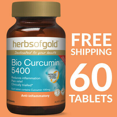 Herbs of Gold Bio Curcumin 5400 (Turmeric) 60 Tablets - Herbs of Gold Curcumin