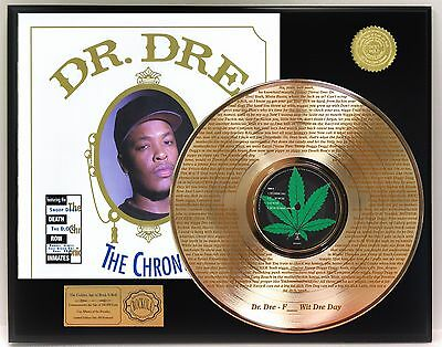 "Dr. Dre ""F_ _ _ Wit Dre Day"" LTD Edition laser etched lyrics Gold LP display"