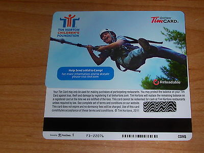 Tim Hortons 2011 Childrens Foundation Tim Gift Card FD22076