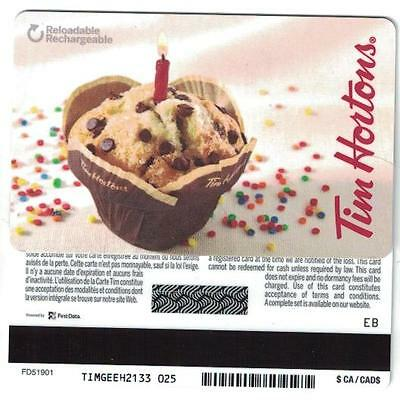 Tim Hortons Birthday Candle Muffin Gift Card