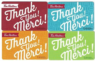 Tim Hortons Thank You Merci Gift Card ( All 4 )
