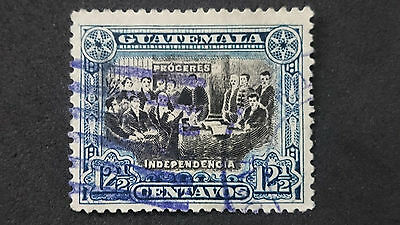 1907- GUATEMALA- DECLARATION OF INDEPENDENCE- SCOTT 132a A38 12 1/2C -ME