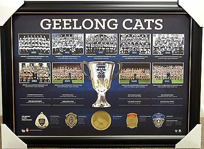 Geelong Cats Historic Premiership History Print Framed - Afl Premiers - Brownlow