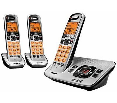 UNIDEN DECT 3035 +2 Premium DECT Digital Technology CORDLESS PHONE ANS/MACHINE