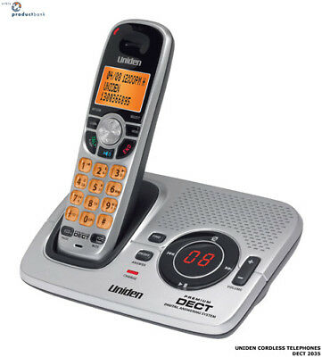 Uniden 6.0 Dect Digital Cordless Home Phone 2035 Ans/machine Caller Id Wifi Lcd