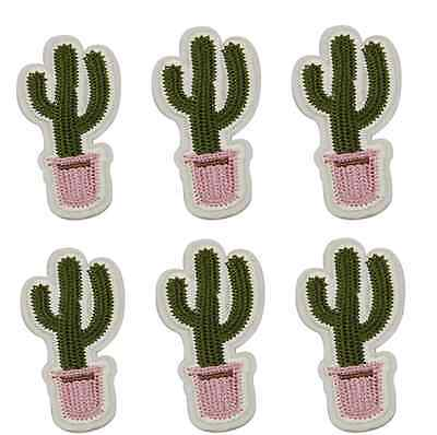 NEW Cactus flower pot Embroidered Cloth Iron On Patch Sew Motif Appliques