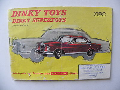 catalogue miniatures DINKY TOYS 1963
