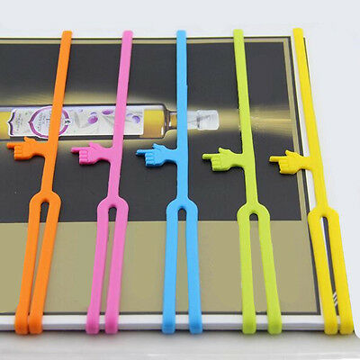 Reader Book Elasticity Hot Tool Clip Organizer Silicone Bookmarks Bookends